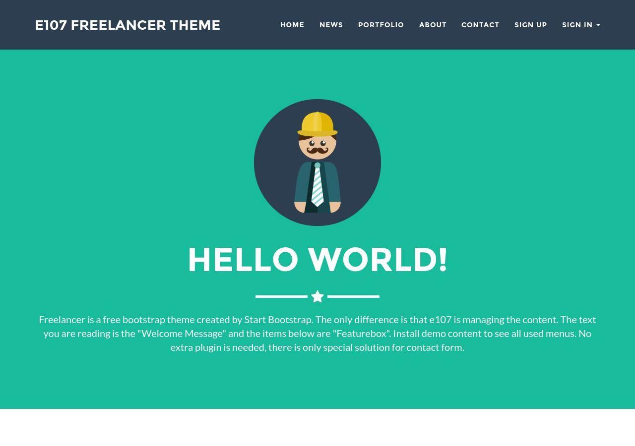 Freelancer Demo Site