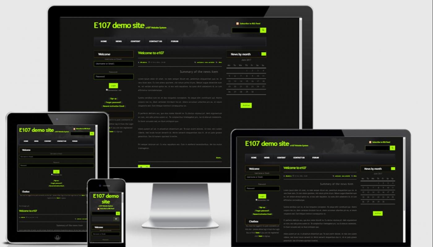 Nightvision Bootstrap 3 theme