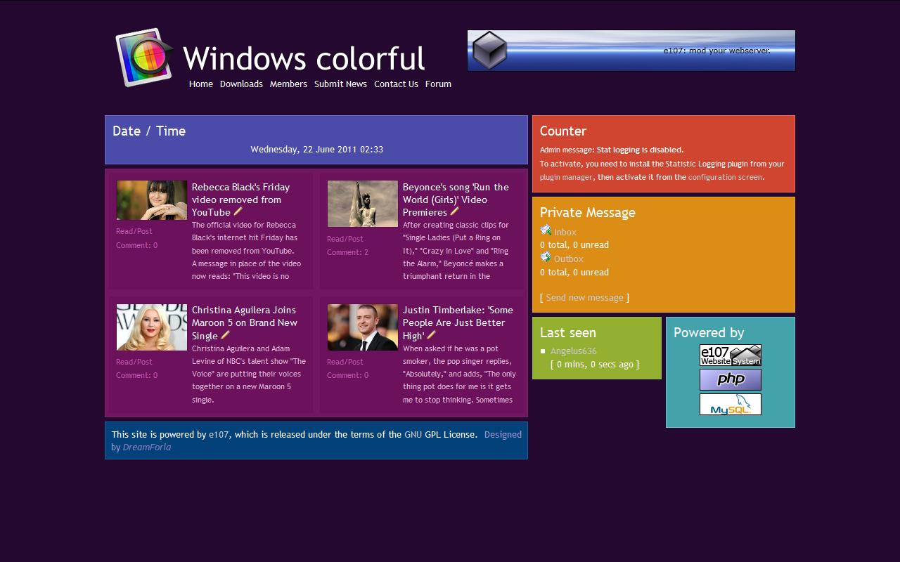 Windows colorful